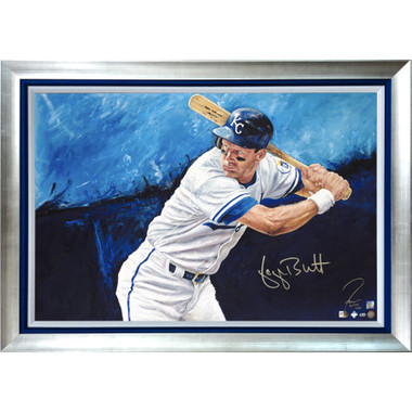 George Brett 'Royalty' Autographed Limited Edition of 25 Framed 24 x 36 Canvas Giclee (Justyn Farano)