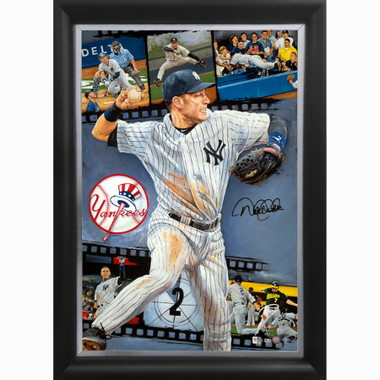 Derek Jeter 'One For The Ages' Autographed Limited Edition of 42 Framed 24 x 36 Canvas Giclee (Justyn Farano)