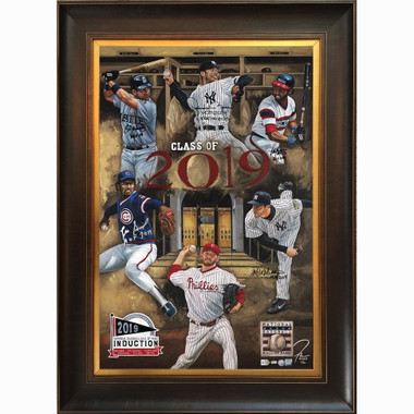 Class of 2019 Hall of Fame Inductees Autographed Limited Edition of 10 Framed 30 x 45 Canvas Giclee (Justyn Farano)