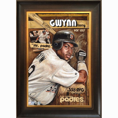 Tony Gwynn 'San Diego's Son' Framed 24 x 36 Canvas Giclee - Limited Edition of 99  (Justyn Farano)