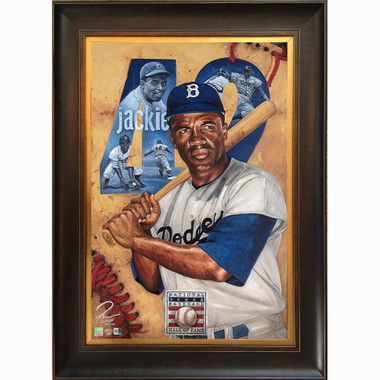Jackie Robinson 'Resilient' Framed 24 x 36 Canvas Giclee - Limited Edition of 99  (Justyn Farano)