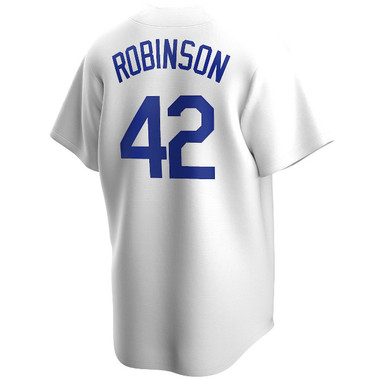 Men's Nike Jackie Robinson Brooklyn Dodgers Cooperstown Collection White Jersey