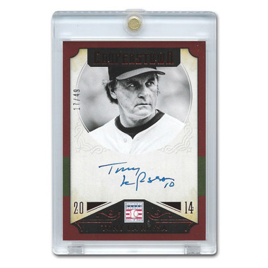 Tony La Russa Autographed Card 2015 Panini Cooperstown Red # 46 Ltd Ed of 49