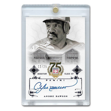 Andre Dawson Autographed Card 2014 Panini Cooperstown HOF 75th Anniversary Blue # 2 Ltd Ed of 25