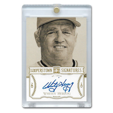 Whitey Herzog Autographed Card 2013 Panini Cooperstown Signatures Ltd Ed 699