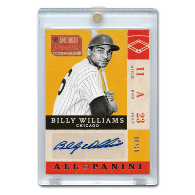 Billy Williams Autographed Card 2013 America's Pastime Signatures Ltd Ed of 25