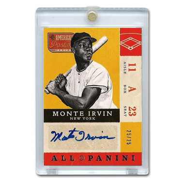 Monte Irvin Autographed Card 2013 America's Pastime Signatures Ltd Ed of 25