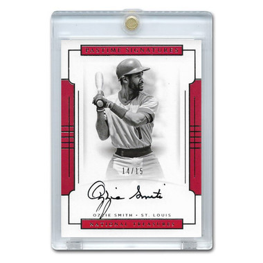 Ozzie Smith Autographed Card 2013 America's Pastime Signatures Ltd Ed of 15