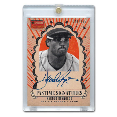 Harold Reynolds Autographed Card 2013 America's Pastime Signatures Ltd Ed of 125
