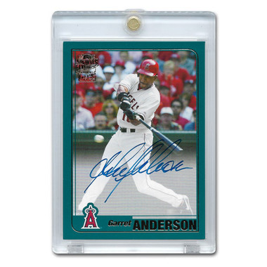 Garret Anderson Autographed Card 2017 Topps Archives Franchise Favorites # FFA-GA