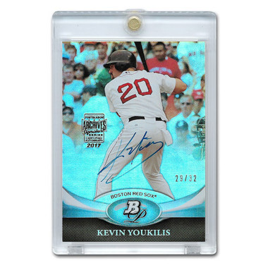 Kevin Youkilis Autographed Card 2017 Topps Archives Platinum Moments Ltd Ed of 32