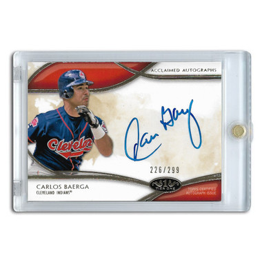 Carlos Baerga Autographed Card 2014 Topps Tier One Acclaimed Ltd Ed of 299
