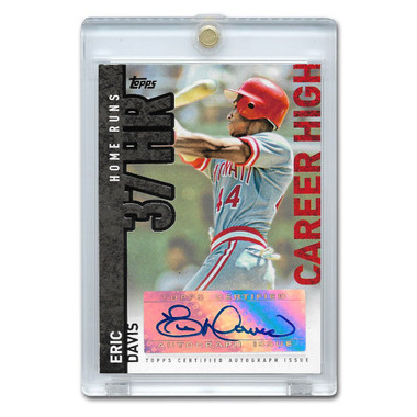 Eric Davis Autographed Card 2015 Topps Career High #CH-ED