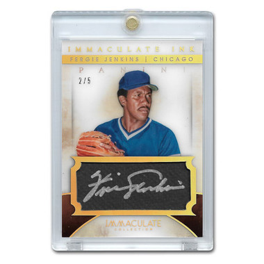 Fergie Jenkins Autographed Card 2014 Panini Immaculate Ink Ltd Ed of 5