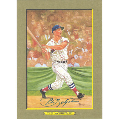 Carl Yastrzemski Autographed Perez-Steele Great Moments Jumbo Postcard # 72 (PSA)