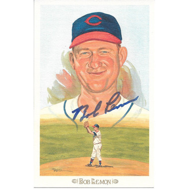 Bob Lemon Autographed Perez-Steele Celebration Series Postcard # 25 (JSA-03)