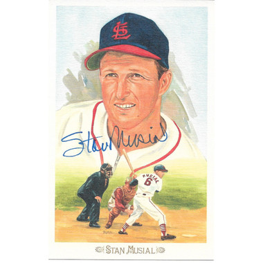 Stan Musial Autographed Perez-Steele Celebration Series Postcard # 33 (JSA)