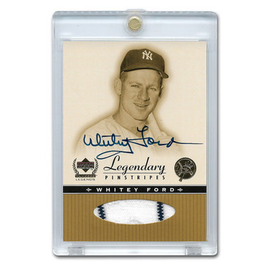 Whitey Ford Autographed Card 2000 Upper Deck Yankee Legends Legendary Pinstripes