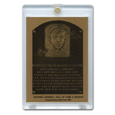Eddie Collins 1981 Hall of Fame Metallic Plaque Card