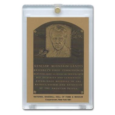 Kenesaw Landis 1981 Hall of Fame Metallic Plaque Card