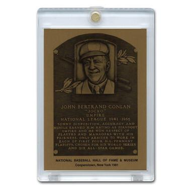 Jocko Conlan 1981 Hall of Fame Metallic Plaque Card