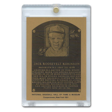 Jackie Robinson 1981 Hall of Fame Metallic Plaque Card