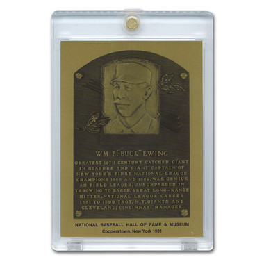 Buck Ewing 1981 Hall of Fame Metallic Plaque Card