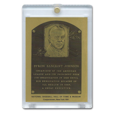 Ban Johnson 1981 Hall of Fame Metallic Plaque Card