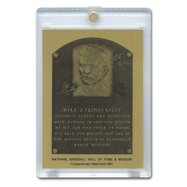 King Kelly 1981 Hall of Fame Metallic Plaque Card