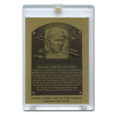 Frank Chance 1981 Hall of Fame Metallic Plaque Card