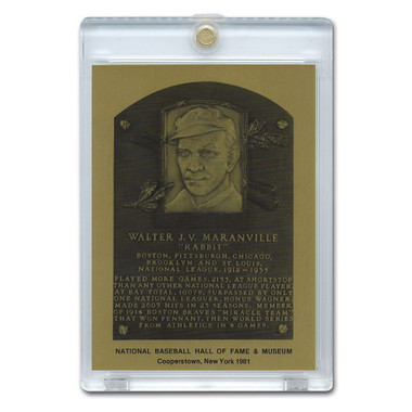 Rabbit Maranville 1981 Hall of Fame Metallic Plaque Card