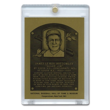 Jim Bottomley 1981 Hall of Fame Metallic Plaque Card