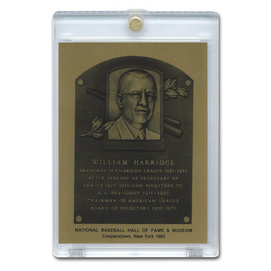 Will Harridge 1982 Hall of Fame Metallic Plaque Card