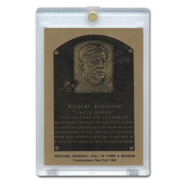 Wilbert Robinson 1982 Hall of Fame Metallic Plaque Card