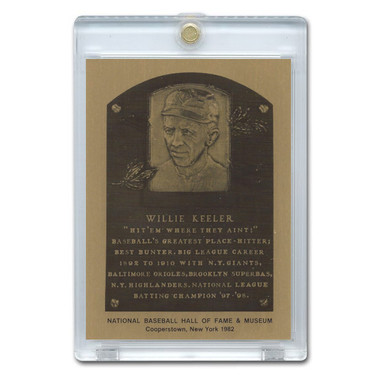Wee Willie Keeler 1982 Hall of Fame Metallic Plaque Card