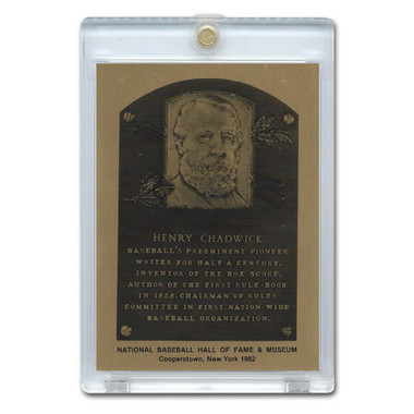 Henry Chadwick 1982 Hall of Fame Metallic Plaque Card