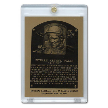 Ed Walsh 1982 Hall of Fame Metallic Plaque Card