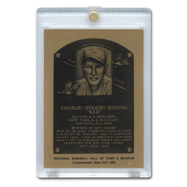 Red Ruffing 1982 Hall of Fame Metallic Plaque Card