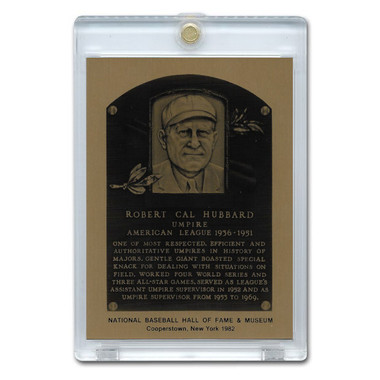 Cal Hubbard 1982 Hall of Fame Metallic Plaque Card