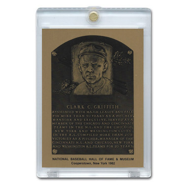 Clark Griffith 1982 Hall of Fame Metallic Plaque Card