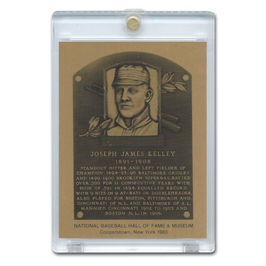 Joe Kelley 1983 Hall of Fame Metallic Plaque Card