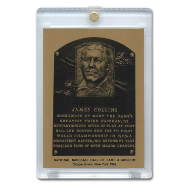 Jimmy Collins 1982 Hall of Fame Metallic Plaque Card