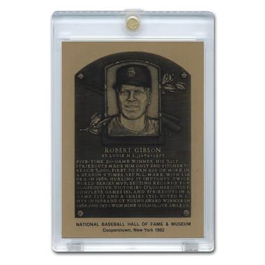 Bob Gibson 1982 Hall of Fame Metallic Plaque Card