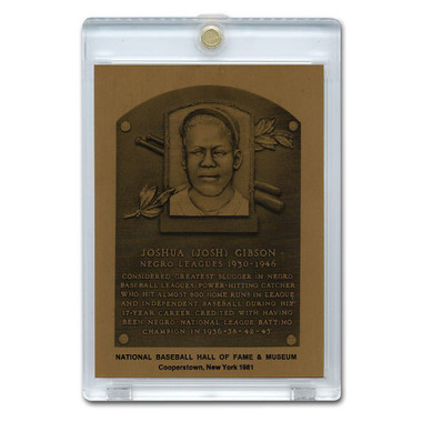 Josh Gibson 1981 Hall of Fame Metallic Plaque Card
