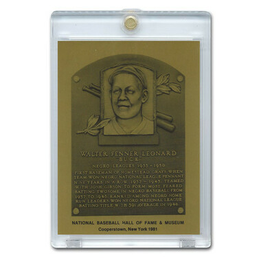 Buck Leonard 1981 Hall of Fame Metallic Plaque Card