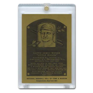 Lloyd Waner 1981 Hall of Fame Metallic Plaque Card