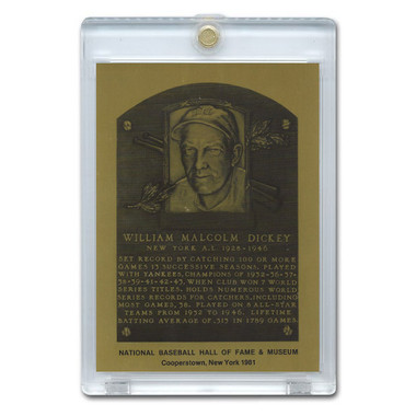 Bill Dickey 1981 Hall of Fame Metallic Plaque Card