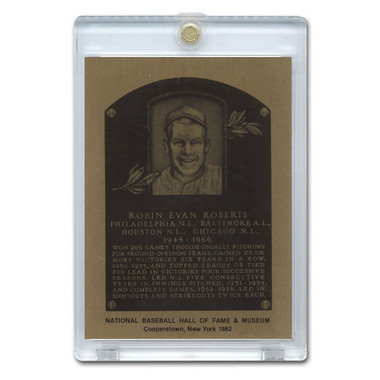 Robin Roberts 1982 Hall of Fame Metallic Plaque Card