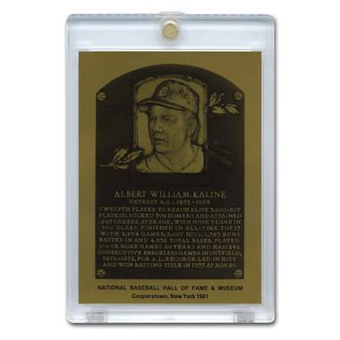 Al Kaline 1981 Hall of Fame Metallic Plaque Card