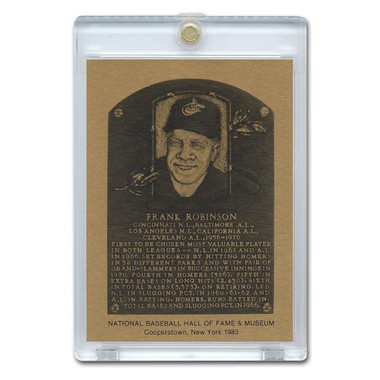Frank Robinson 1983 Hall of Fame Metallic Plaque Card